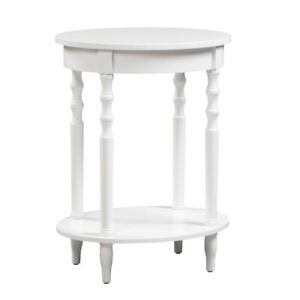 Convenience Concepts Classic Accents Brandi Oval End Table, White - 501032W