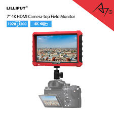 "Lilliput A7S 7"" Video Camera Top HD1920x1200 IPS Monitor+Battery Plate+Sun Shade"
