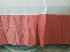 """Ralph Lauren """"Villa Camelia� collection Queen Bed Skirt Orange & Tan Print Euc"""