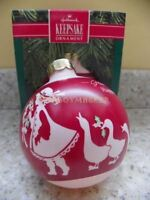 Hallmark 1990 Granddaughter Christmas Glass Ball Ornament