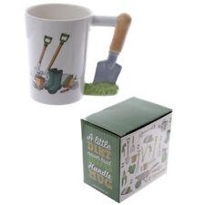 Trowel Shaped Handle Mug - Gardener Gift