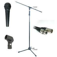 Nady Vocal Microphone + Pro Boom Stand XLR mic cable + clip Complete Vocal Pack