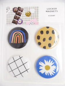 Paper Riot Co. Magnetic Decorative Locker Button Magnets - 4pk