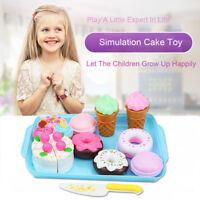 17PCS Dessert Cake Food Toy Pretend Play Food Ice Cream Birthday Cake Set Toys L