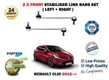 FOR RENAULT CLIO MK4 2012-> 2X FRONT LEFT + RIGHT STABILISER LINK BARS SET
