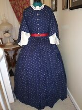 Civil War Reenactment Drop Sleeve Fancy Day Dress S18