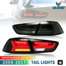 Smoked LED Sequential Tail Lights For 08-17 Mitsubishi Lancer / Evo X Rear Lamp