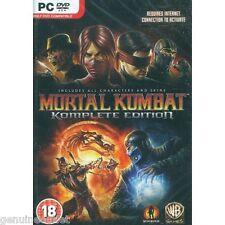 Mortal Kombat Komplete Edition for (PC DVD) SEALED NEW