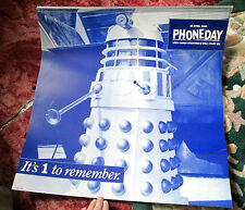 """DOCTOR WHO DALEK BT shop display 1995  LARGE 22"""" X 22"""" 1966 WORLD CUP MOORE"""