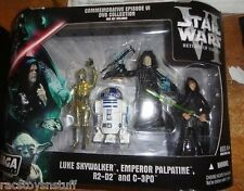 STAR WARS COMMEMMORATIVE EPISODE VI DVD COLLECTION FIGURES MIB