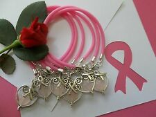 BREAST CANCER AWARENESS  'SUPPORT WITH LOVE' BRACELETS - 6 COUNT
