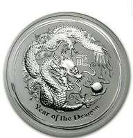 2012 Silver 2 oz Perth Mint Lunar Year of the DRAGON