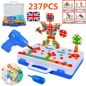 237Pcs Electric Drill 3D Puzzle Toys Kids DIY Building Christmas Birthday Gift