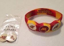 Wrist Skins Golf Ball Marker Bracelet,Minnesota Gophers, Magnetic, Size L & M