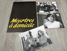 MEURTRES A DOMICILE b giraudeau a duperey scenario dossier presse cinema 1981
