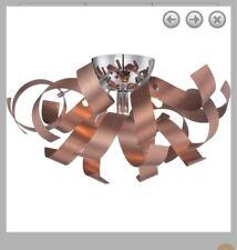 2 Quoizel Lighting-Ribbons - 4 Light Flush Mount  Satin Copper