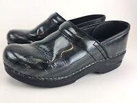 Women Dansko Professional Clog Patent Leather Shoes Sz 38/ 7.5-8 US