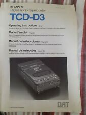 Sony tcd-d3 manual