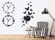 Wall Vinyl Sticker Amazing Decor Watch Butterflies Arrow (n487)