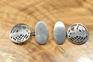 Stunning Shetland Silver Sleipnir Cufflinks Norse Mythology 925 Sterling