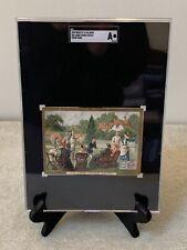 RARE 1878 ANTIQUE HUNTLEY & PALMERS LAWN TENNIS MATCH TRADE CARD SGC OVERSIZE