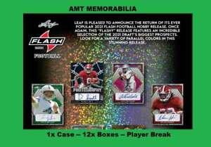 Amon-Ra St. Brown Detroit Lions 2021 Leaf Flash 1X Case 12x BOX BREAK #1