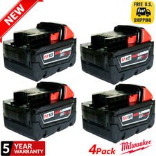4XFor Milwaukee 48-11-1860 M18 18Volt 6.0 Amp Lithium-Ion Cordless Battery Pack