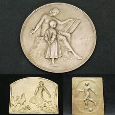 lot de 3 médailles en bronze