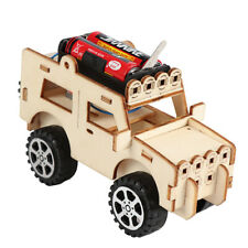 1pc Woodcraft Toy Wooden Jeep Car Construction Kit Kids Wood Model Puzzle