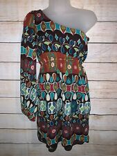 Judith March One Shoulder Boho Hippie Dress Medium
