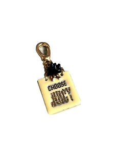 Gold Juicy Couture Bracelet Bag charm, Choose Juicy Dog Shopping Bag With Dog