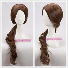 Beauty and the Beast Belle Long Wavy brown daily wear cosplay wig +a wig cap