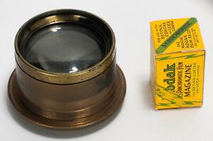 Ross? Voightlander? Vintage Large Format Brass Lens