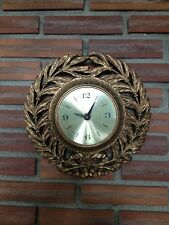 "Junghans Diehl 10"" Round Wall Clock Ornate Gold/Bronze-Tone Frame Exposed Face"