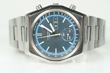 Rare Seiko Automatic Chronograph 6139-7080, Blue Dial Seiko Speed Timer SERVICED