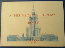 X Mistrzostwa Europy mężczyzn W boksie-Warszawa 1953, MI 602-604