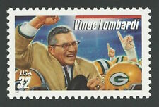 Football Legend Coach Vince Lombardi Green Bay Packers US Stamp MINT CONDITION!
