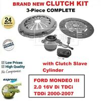 FOR FORD MONDEO III 2.0 16V Di TDCi TDDi 2000-2007 NEW 3-PC CLUTCH KIT with CSC