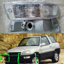 2x For 1998-1999 Toyota RAV4 Auto Front Bumper Fog Lights Housing COVER White