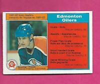 1982-83 OPC # 99 OILERS WAYNE GRETZKY TEAM LEADER EX-MT CARD (INV# C5646)