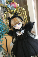 1/6 1/4MSD/RL 1/3 BJD Outfit Black Angle Suit Dress+Headwear+Removable Wings AOD