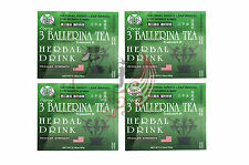 4 x 3 BALLERINA TEA SLIMMING TEA FOR DIET SLIM WEIGHT LOSS 30 TEA BAGS
