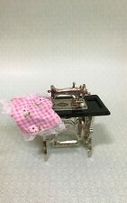 Dollhouse Miniature  Sewing Machine With Garment