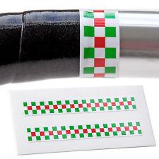 x2 Italian Chequerboard Handlebar Finishing Tape Retro Fixie Racer L'Eroica