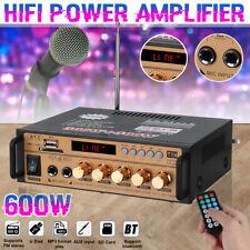 600W HIFI Verstärker Stereo bluetooth Audio Amplifier Digital FM USB SD MP3 DHL