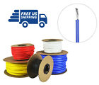 24 AWG Gauge Silicone Wire Spool - Fine Strand Tinned Copper - 100 ft. Blue