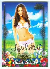 """APRIL SCOTT """"CARD OF THE MONTH AUTOGRAPH"""" BENCHWARMER HOLLYWOOD 2015"""