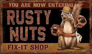 You Are Now Entering Rusty Nuts Fix-It Shop Door Mat Indoor Outdoor Decor