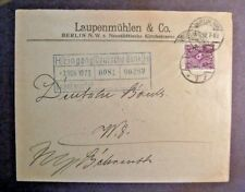 1922   scarce   German Cover ( Deutches Reich)  w/Berlin CD and nice Franking
