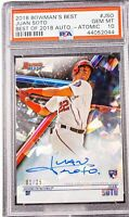 2018 Bowman Best JUAN SOTO Best of 2018 AUTO ATOMIC 1/25 GEM MINT RC PSA 10!!!